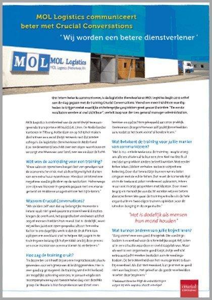 Klantverhaal | MOL Logistics