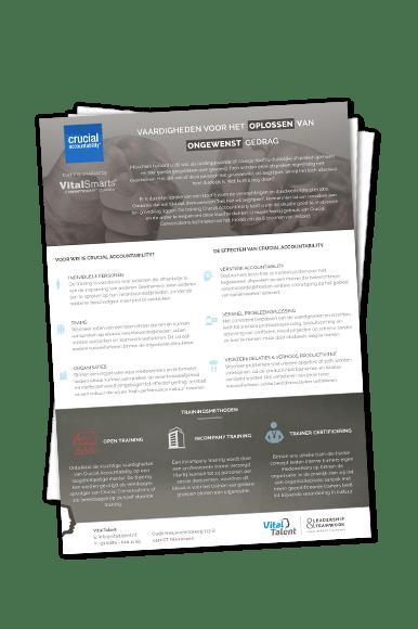 Productflyer Crucial Accountability