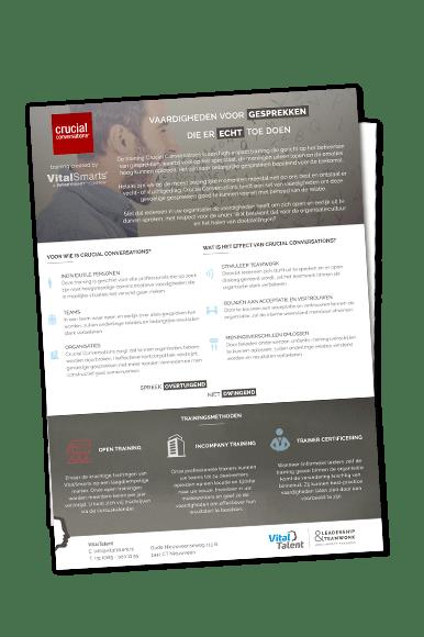 Productflyer Crucial Conversations | VitalTalent