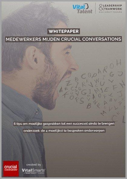 Whitepaper | Medewerkers mijden Crucial Conversations
